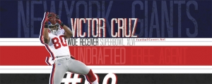 Victor Cruz Giants Facebook Cover Photo