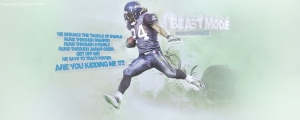 Marshawn Lynch Seattle Seahawks Facebook Cover