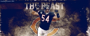 Brian Urlacher Chicago Bears Facebook Cover