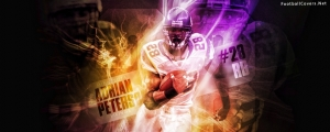 Adrian Peterson Minnesota Vikings Facebook Cover Photo